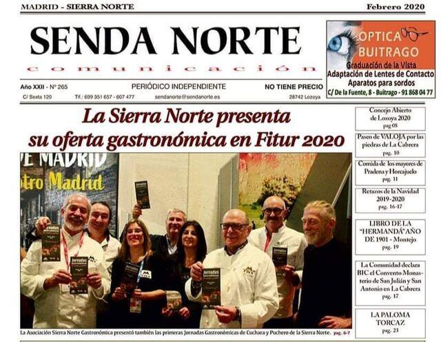 Restaurante Cachivache con Sierra Norte Gastronómica, portada de Senda Norte