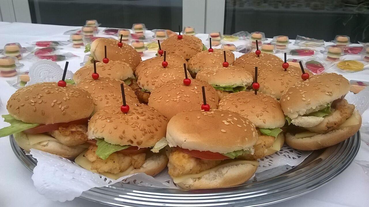 Mini Hähnchenburger für die Kleinen