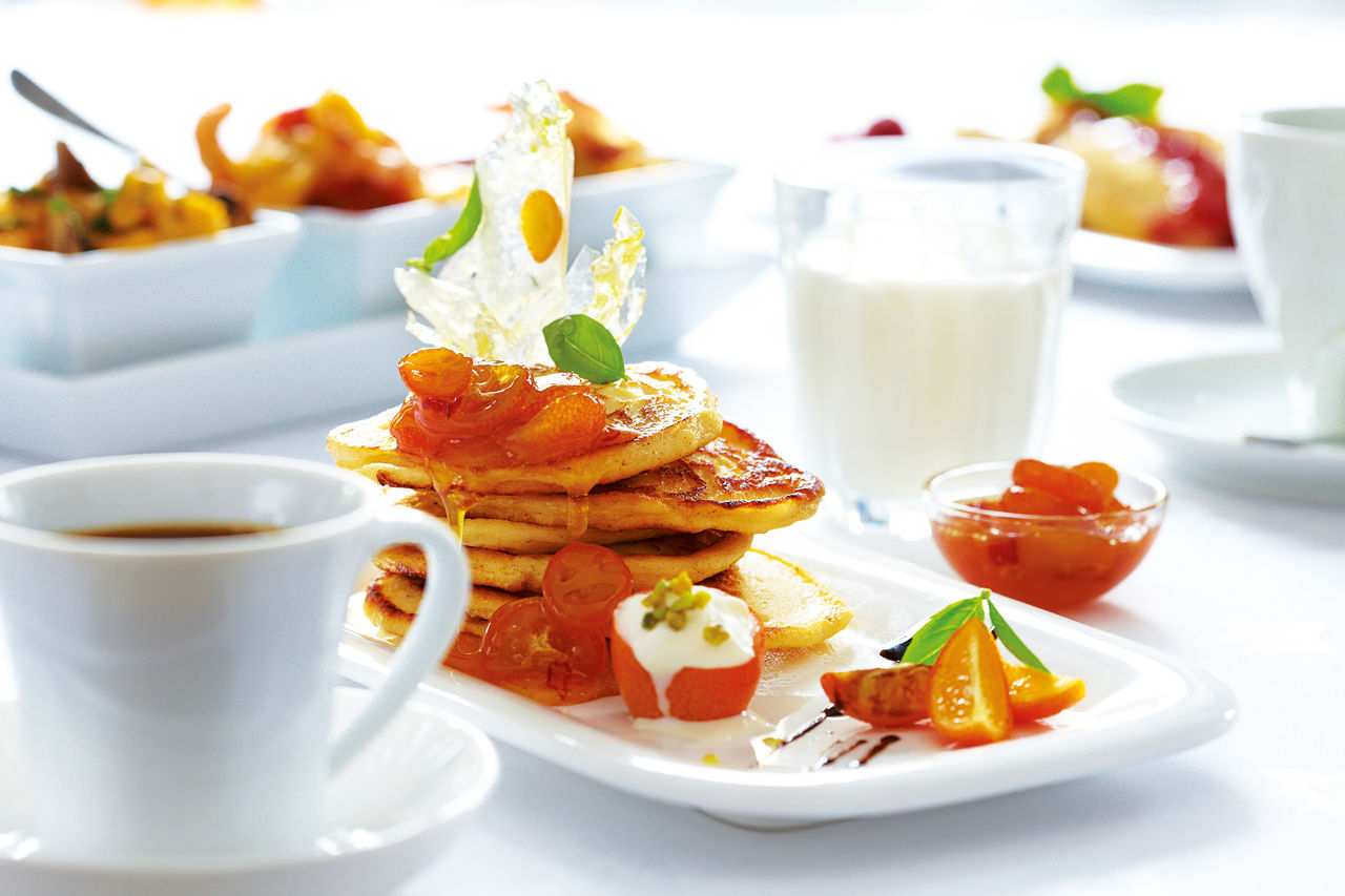 ...mit einem guten Frühstück