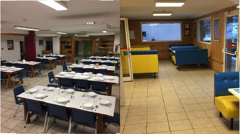 Nos deux salles de restaurant : une de 100 places et l'autre de 45