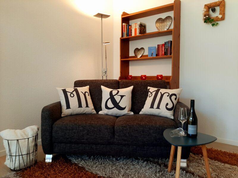 Unsere Suite bietet auch einen Wohnbereich inkl. Essbereich.