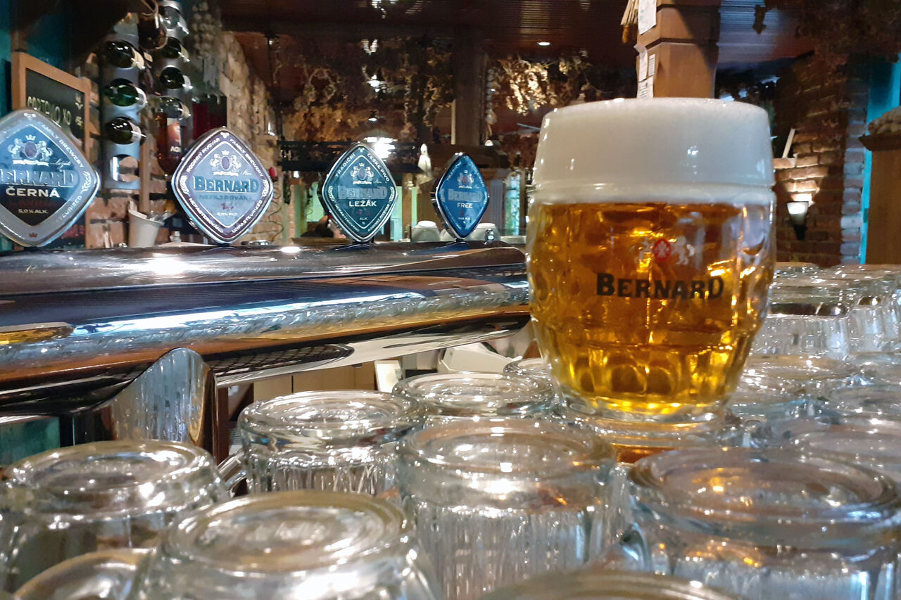 Široká nabídka piva