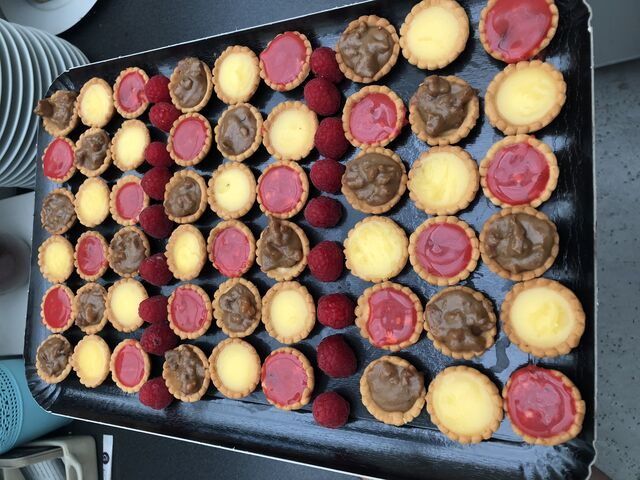 Mini tartelettes maison Citron pralines chocolat