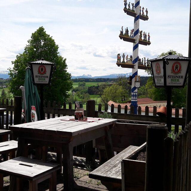 Biergarten Hochterrasse