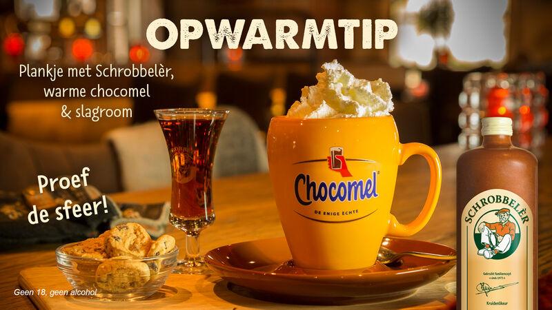 Probeer nu ook eens onze heerlijke warme choco compleet. Lekkere opwarmer met een schrobbeler erbij!