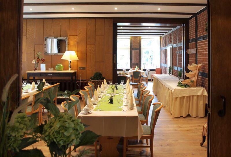 Der große Klubraum, ideal für Ihr Frühstücksbuffet