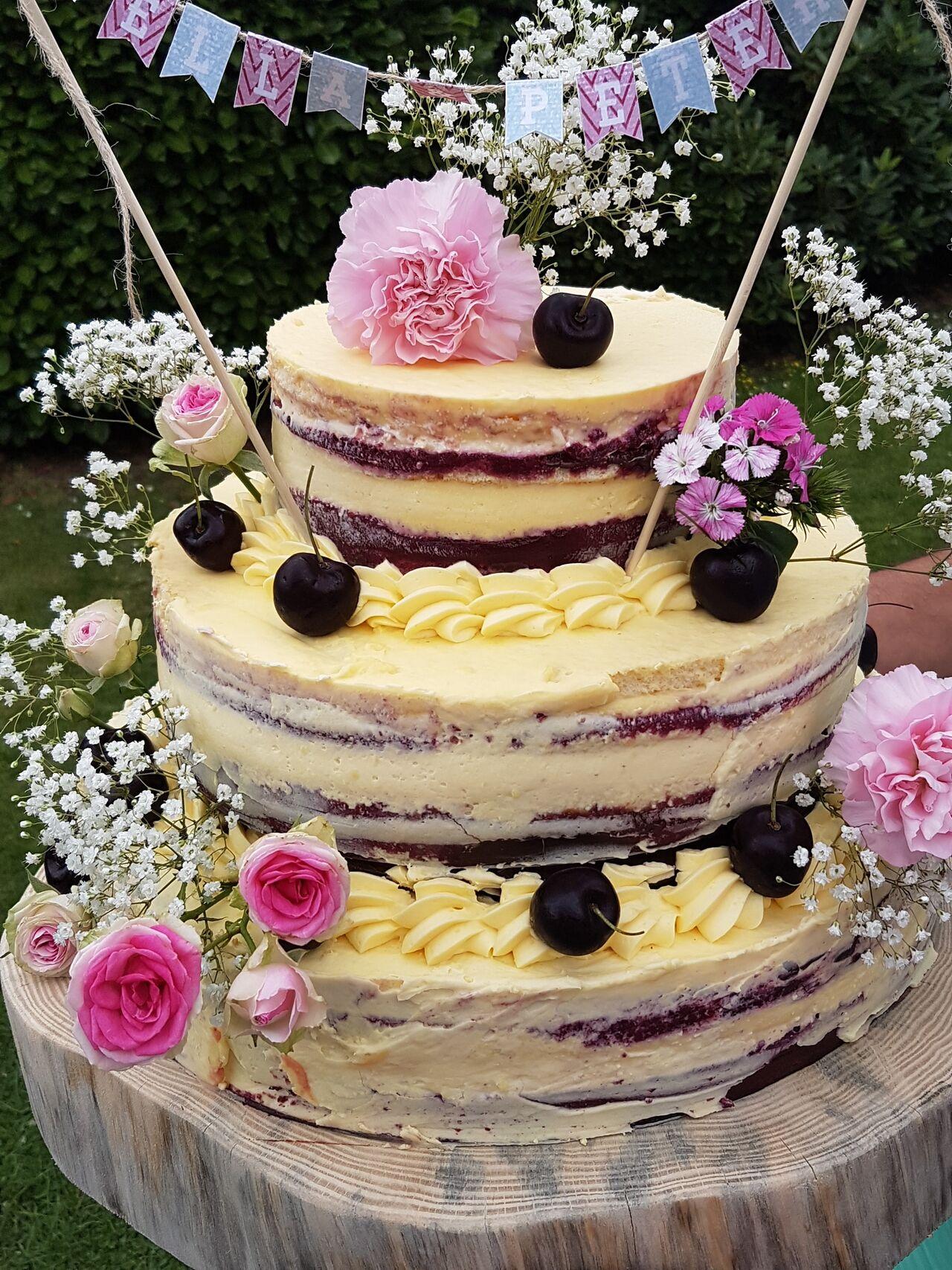 naked Cake Cerise Vanille