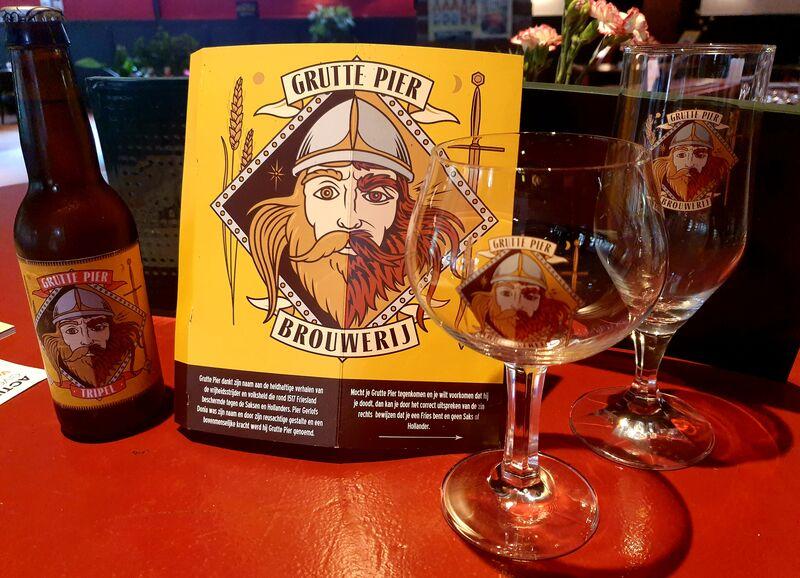 Bij ons nu ook Grutte Pier bier.