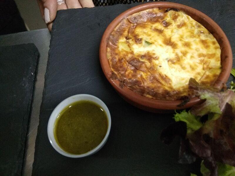 carte cétogène clafoutis de courgettes sauce pesto