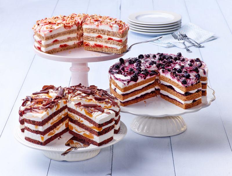 reichhaltige Kuchenauswahl