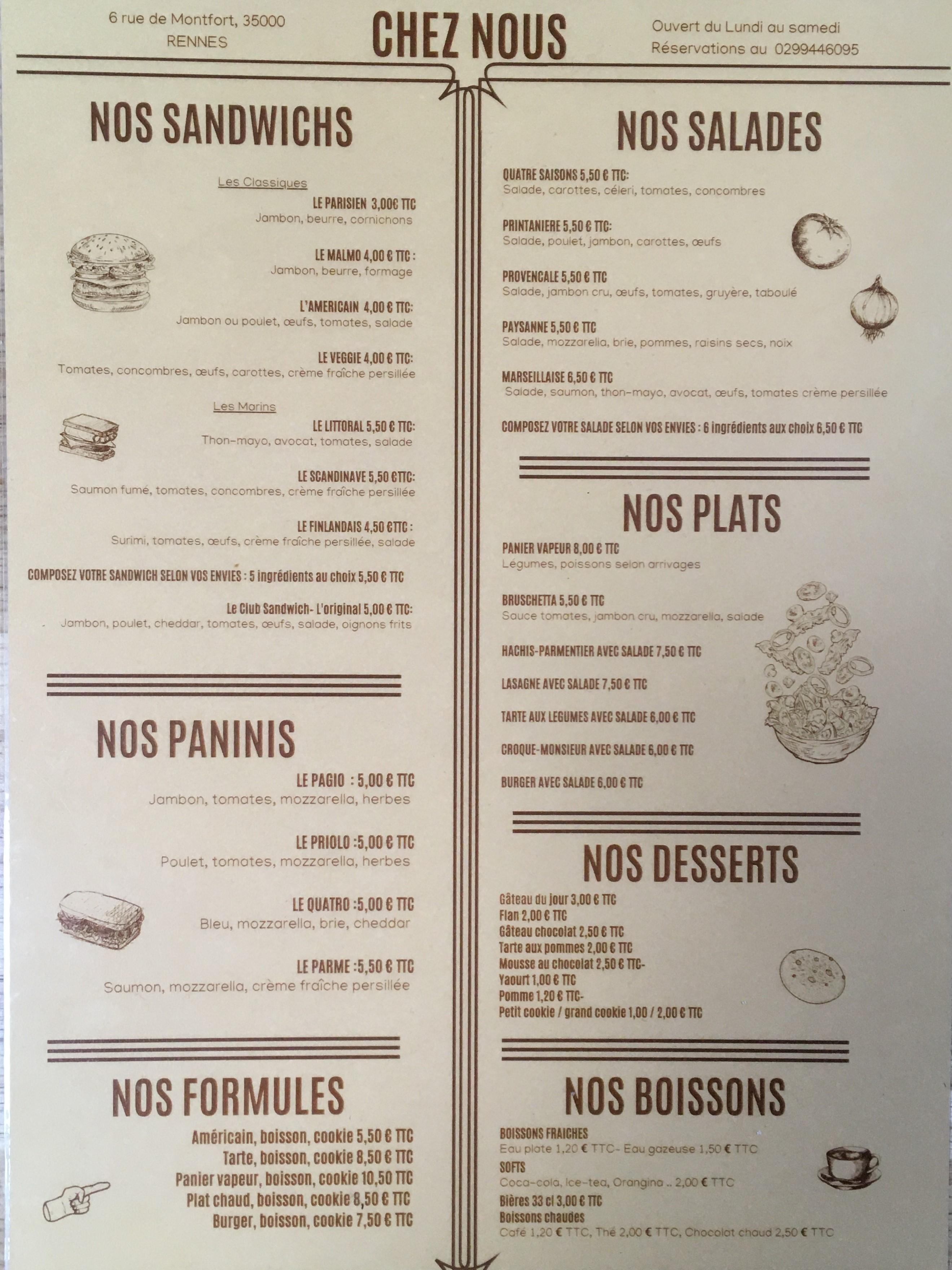 Chez Nous Rennes French Cuisine Near Me Book Now