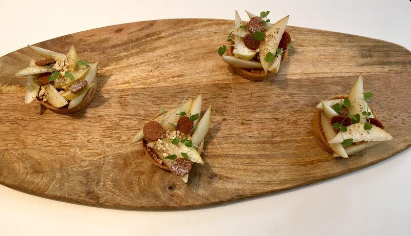 Tarte bourdaloue et tonka ! Bravo aux apprentis pâtissiers !