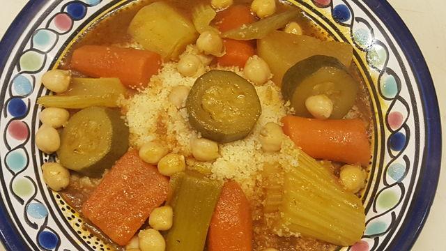 Couscous aux légumes et semoule extra fine