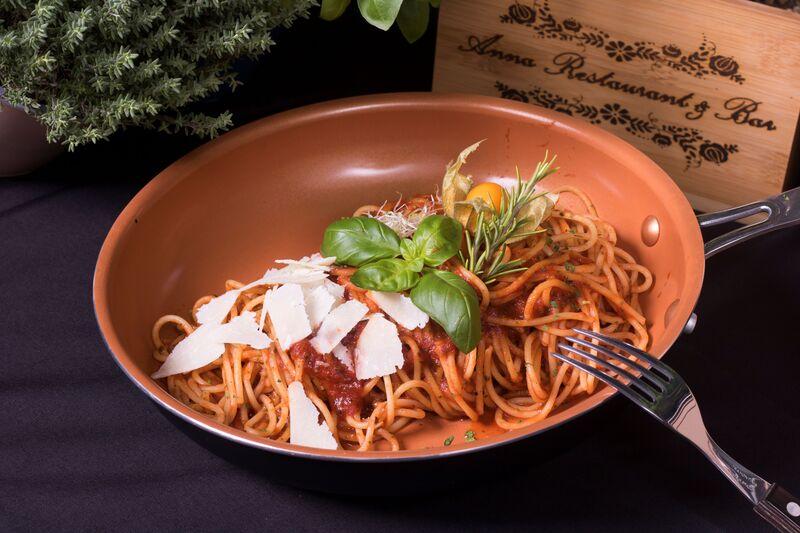 Pilzragout Spaghetti