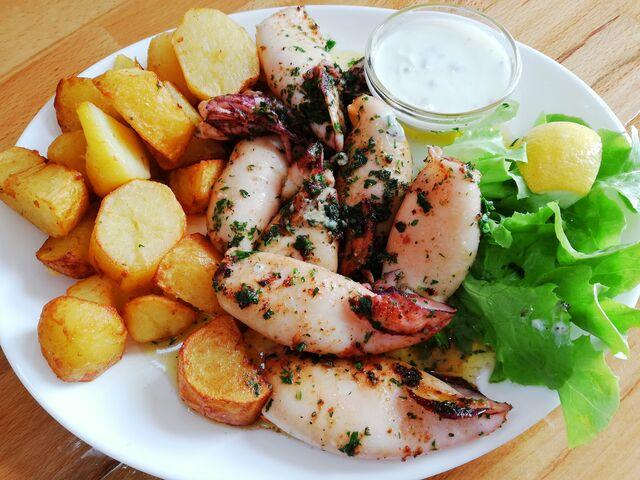 Calamari mit Bratkartoffel
