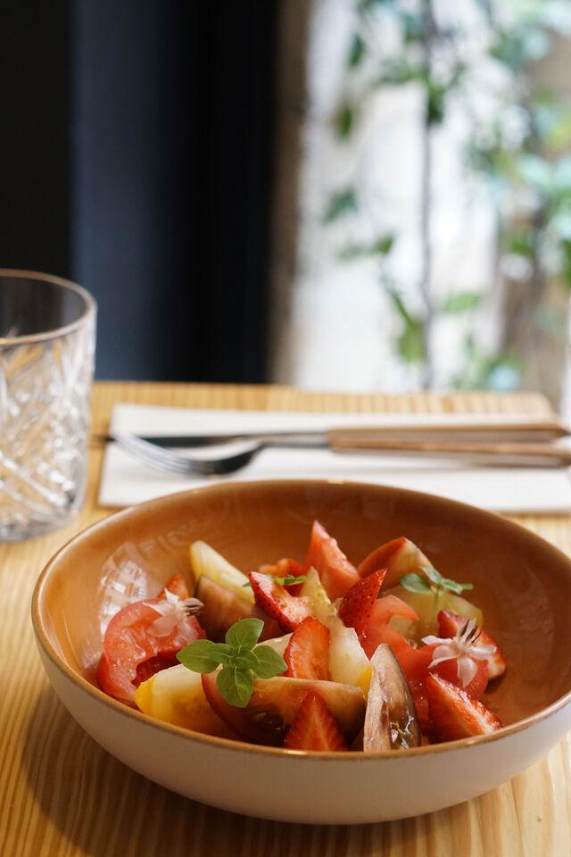 Tomates / Fraises à l'huile de vanille