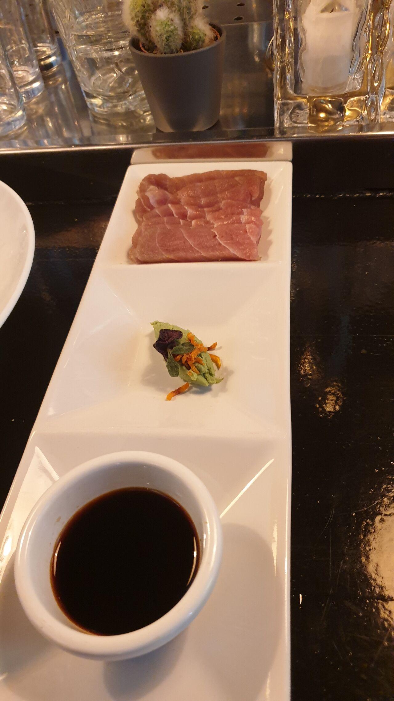 Verse tonijn met wasabi en soja, zooooo lekker