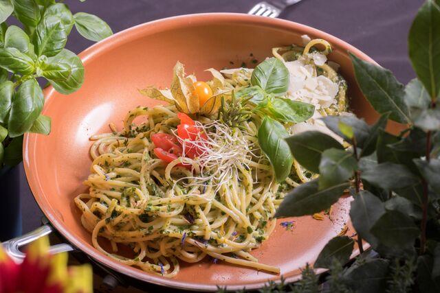 Sahne-Spinat Spaghetti