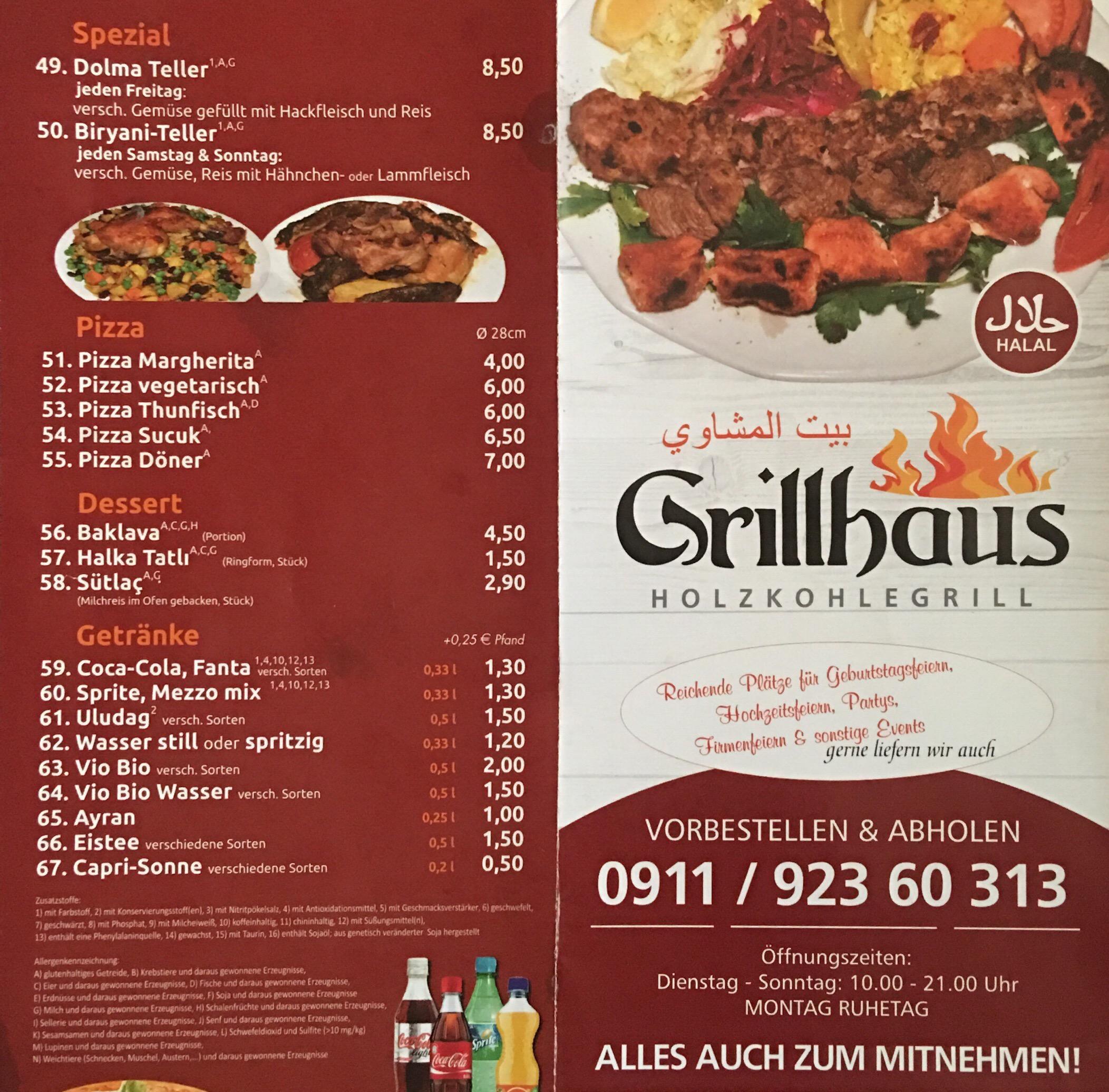 Grillhaus Restaurant Furth Lebanese Mediterranean Cuisine Near