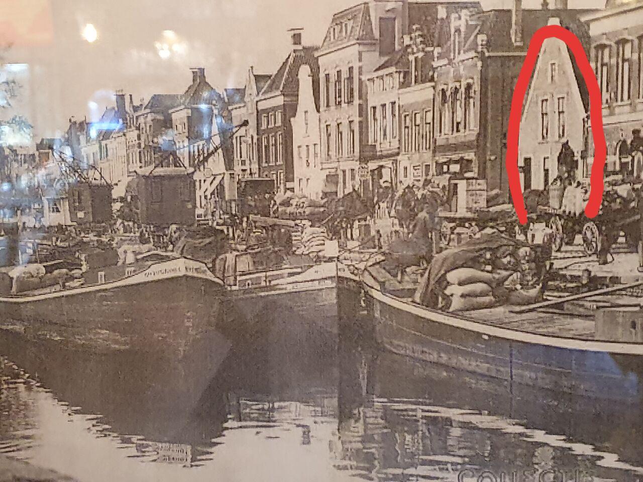 Historisch plaatje van 'Het Lopster Veerhuis'