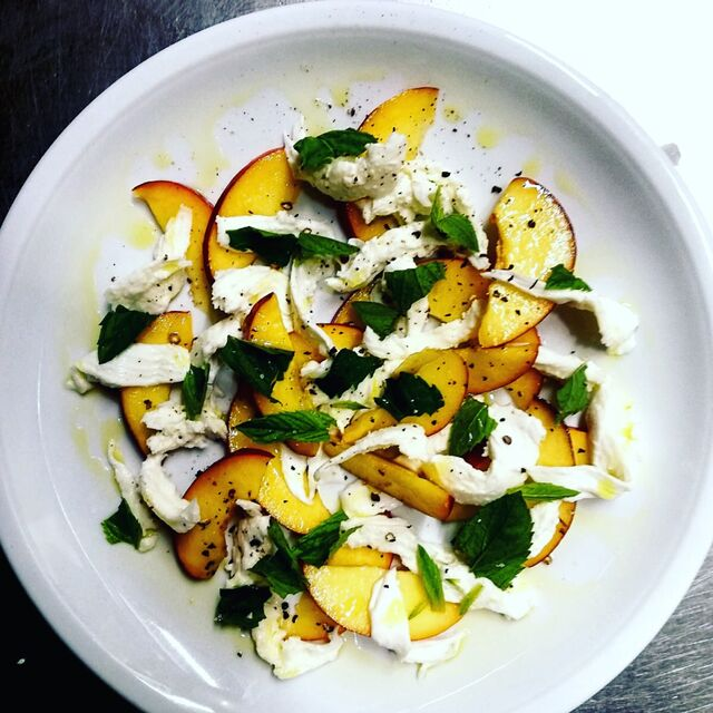 nectarines and mozzarellas