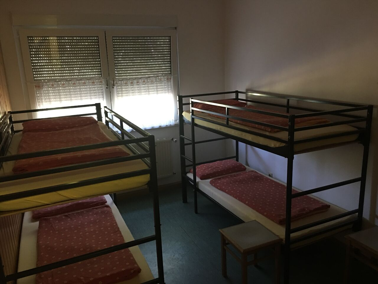 Schlafzimmer im Wanderheim an der Walthari-Klause