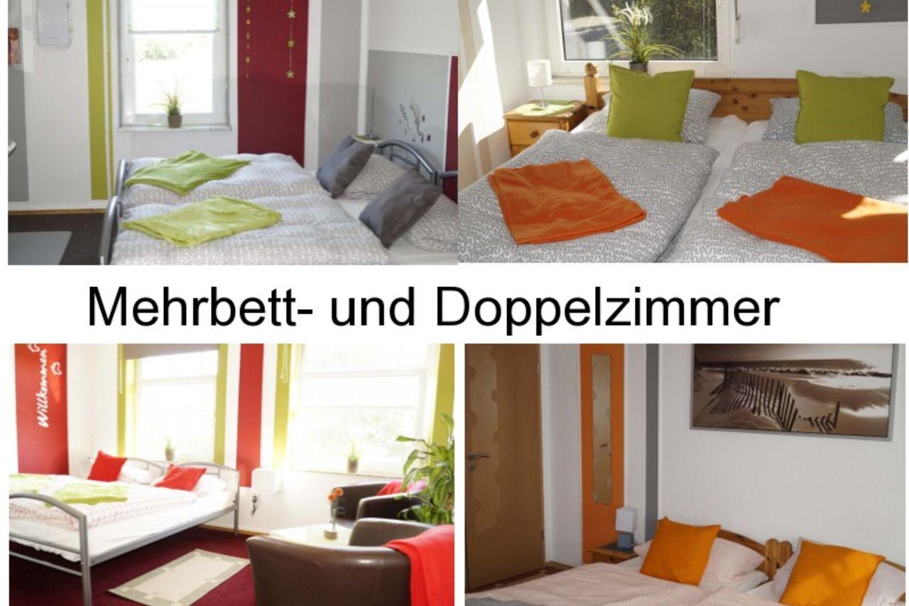Unsere Doppel- und Mehrbettzimmer