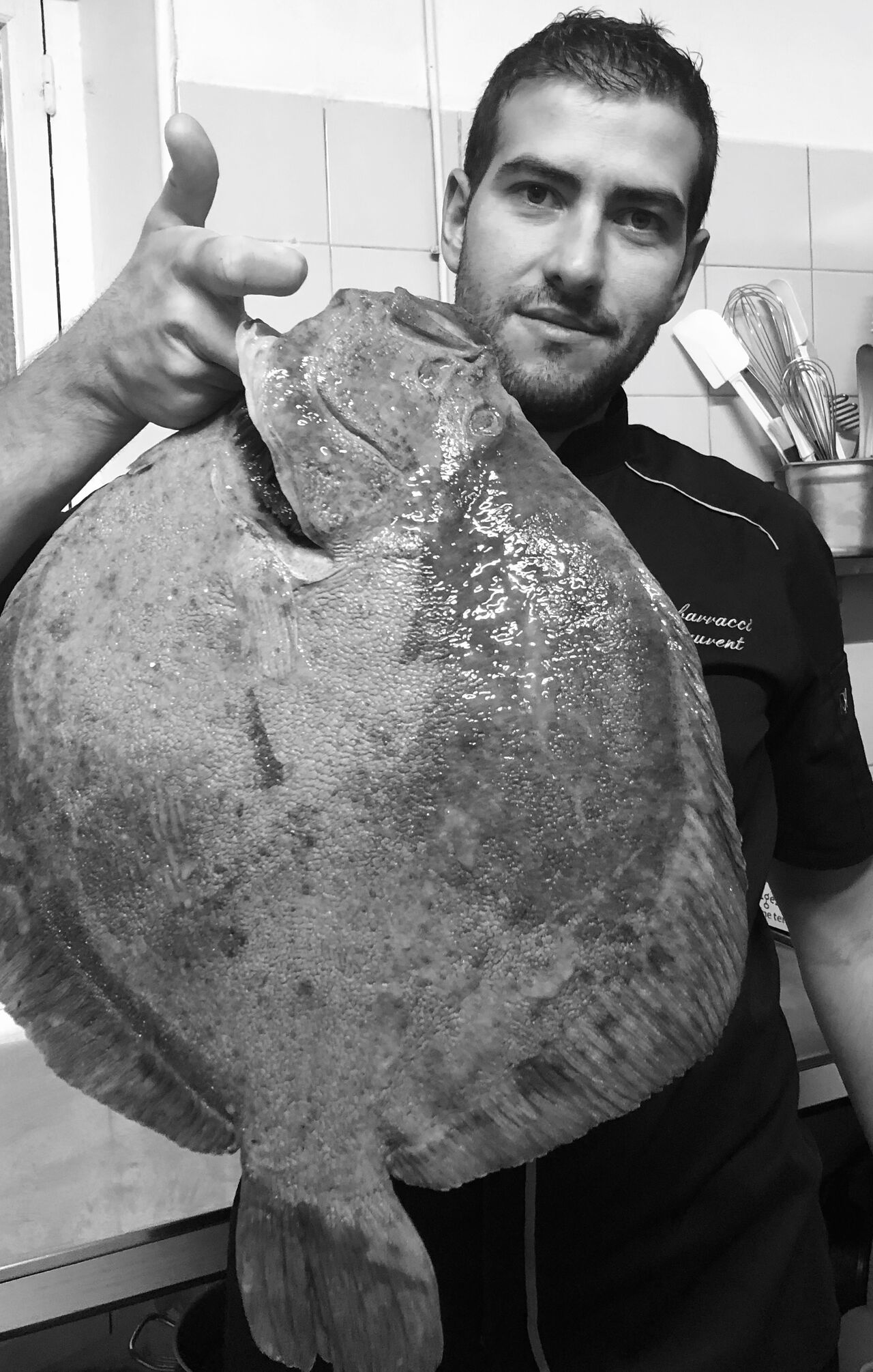 Le chef Laurent Tabarracci et un Turbot de 4Kg !