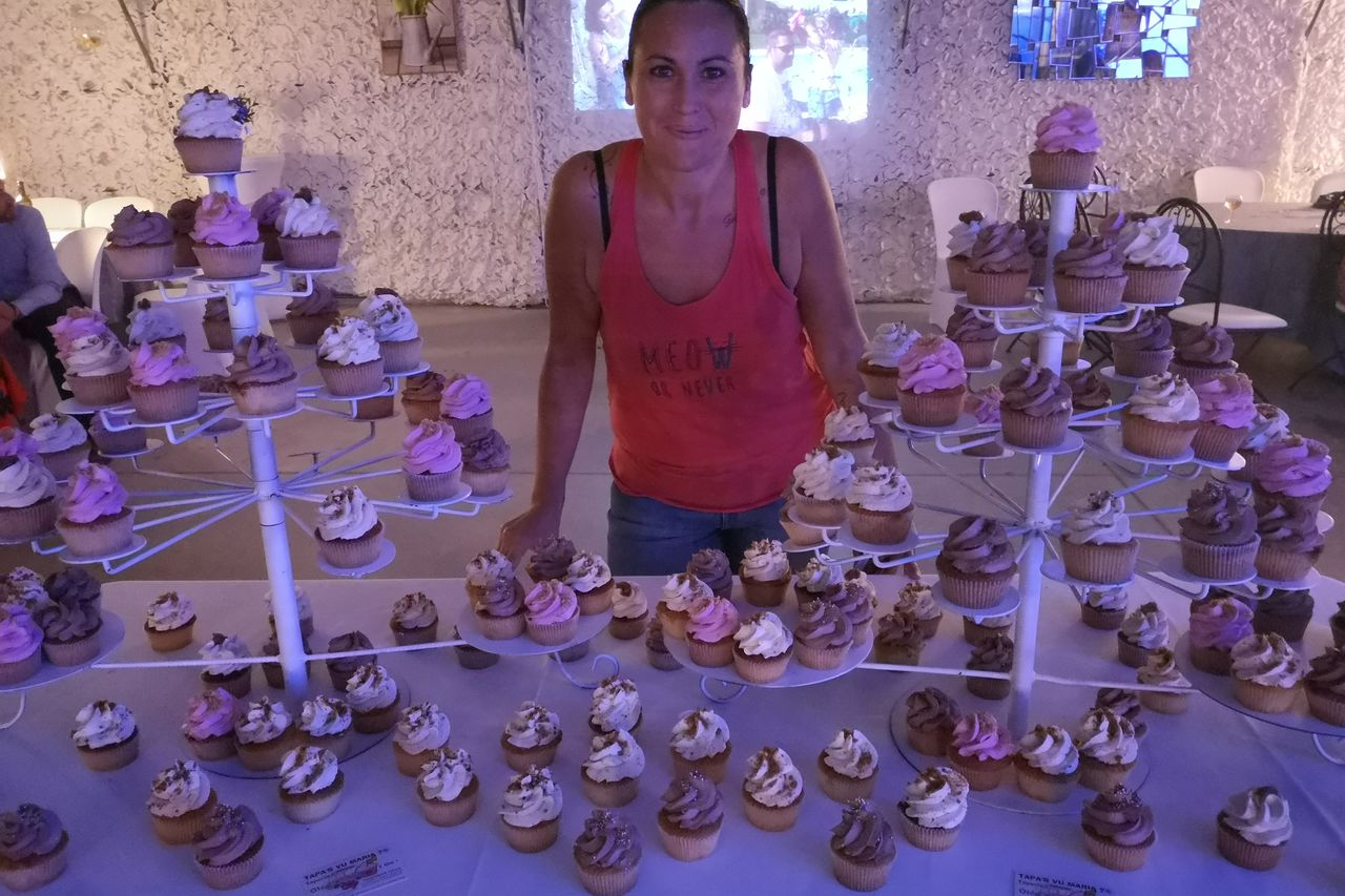Une montagne de cupcakes
