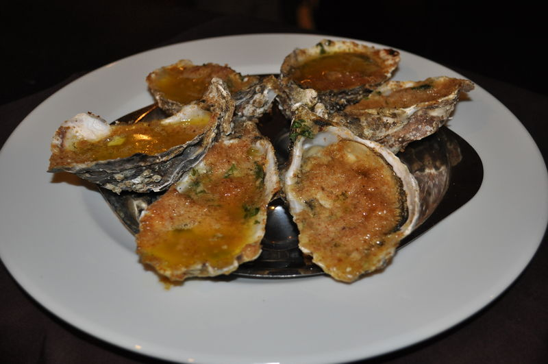 Gratined oysters Huitres gratinées