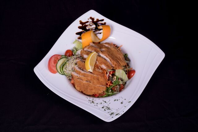 Bunte Salat Schnitzelstreifen