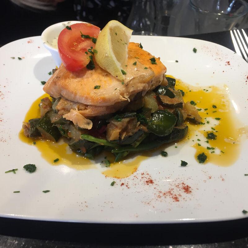 Pavé de Cabillaud et ses légumes