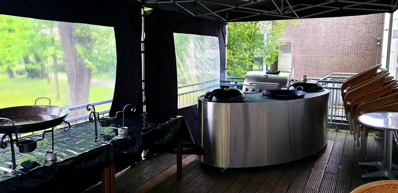 Grillstation im Kurhaus