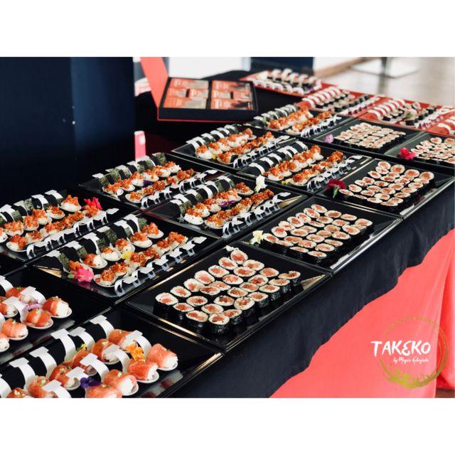 Demostración atún de almadraba en sushi.