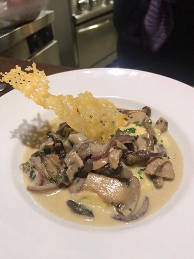 Das feine Pilzragout mit Parmesansegel