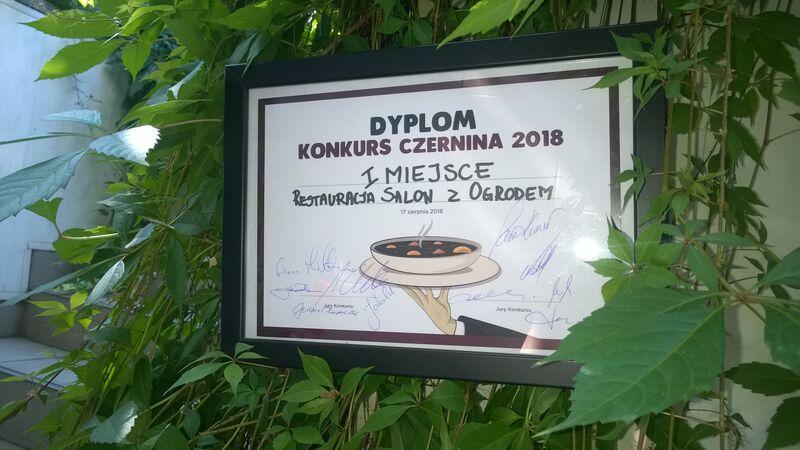 I miejsce w konkursie na czerninę podczas Ogólnopolskiego Festiwalu Dobrego Smaku. Zapraszamy!