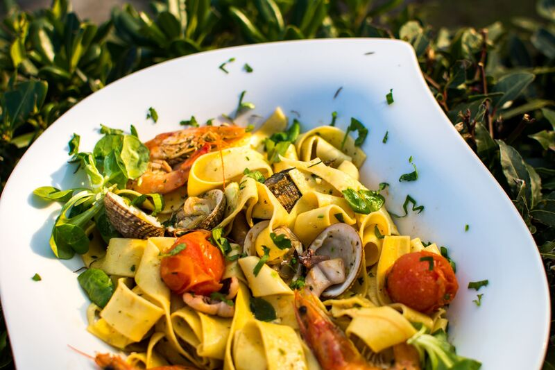 A wonderful seafood tagliatelle