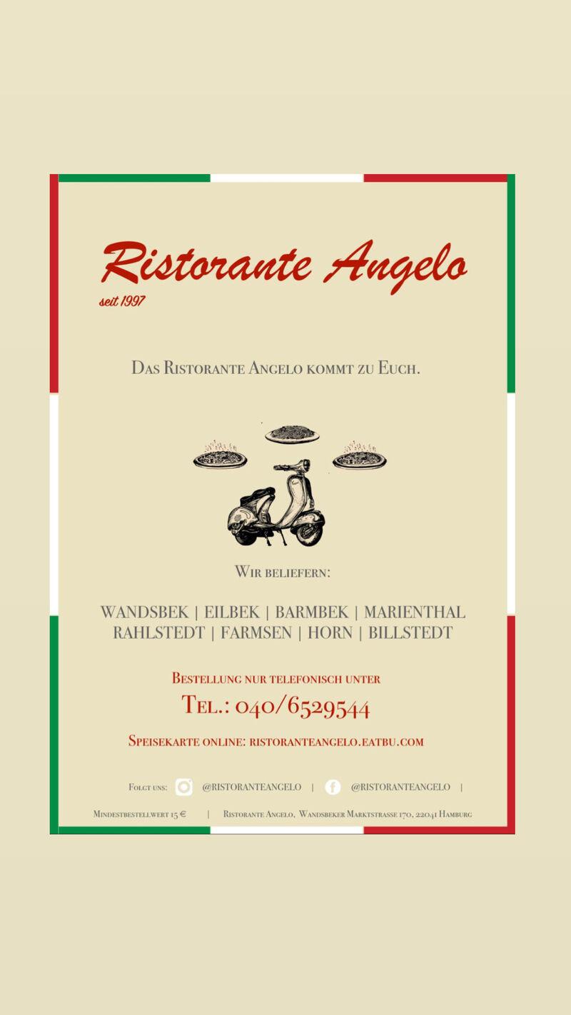 Das Ristorante Angelo kommt zu Euch! Ab sofort können Sie ihr Essen bei uns abholen oder liefern lassen.#stayathome#staysafe#