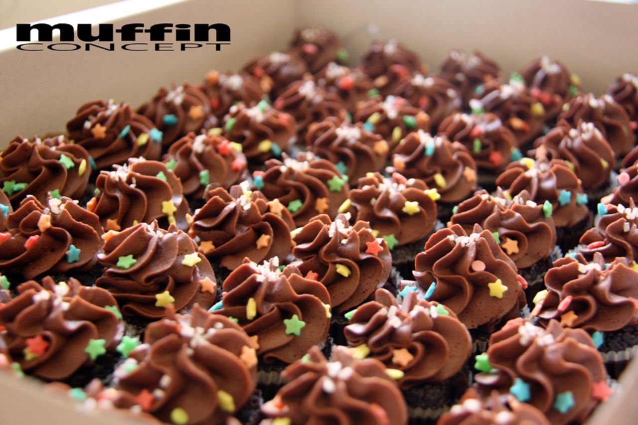 čokoládové mini cupcakes