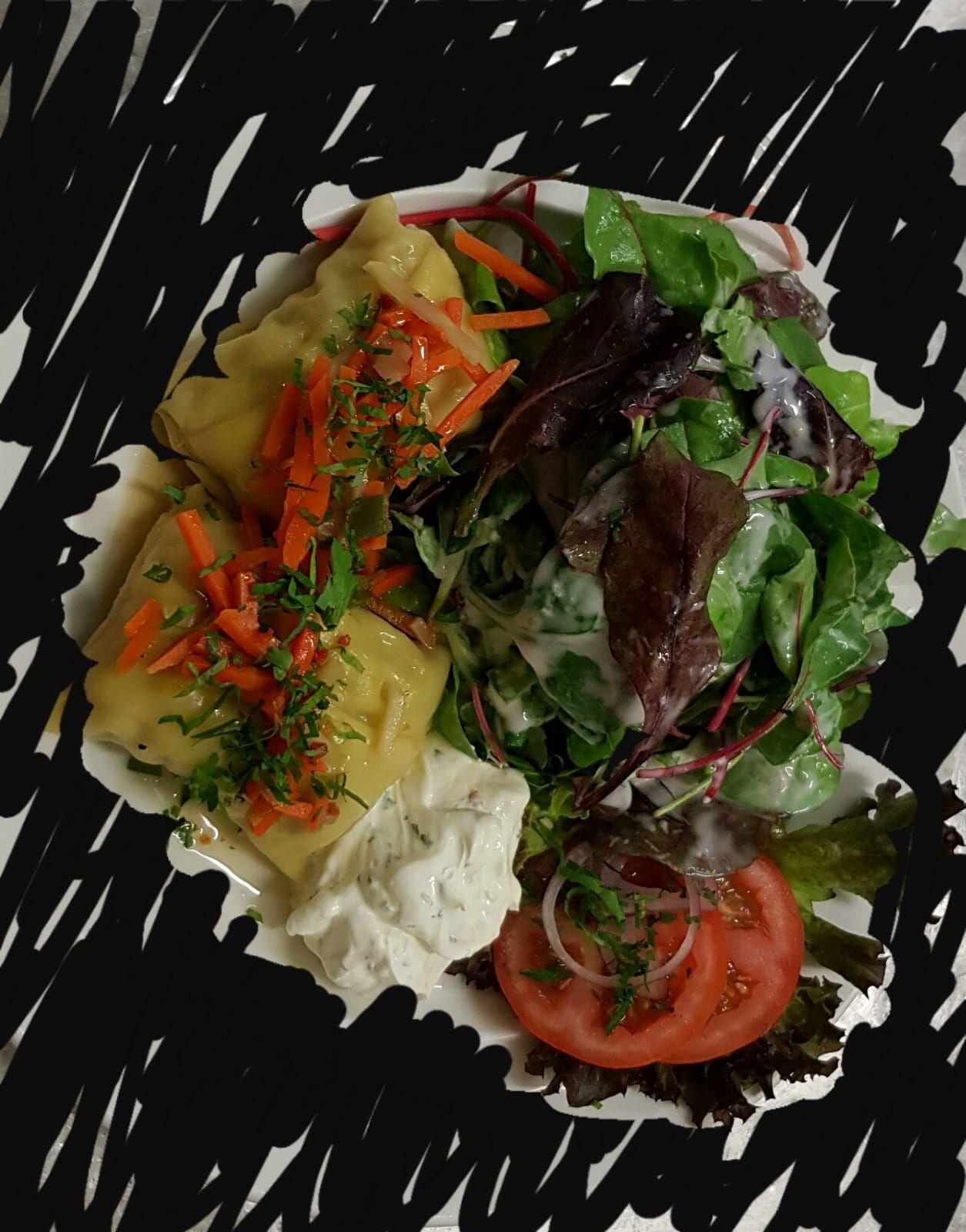 Veggie❤️Maultaschen mit Spinat und Käse