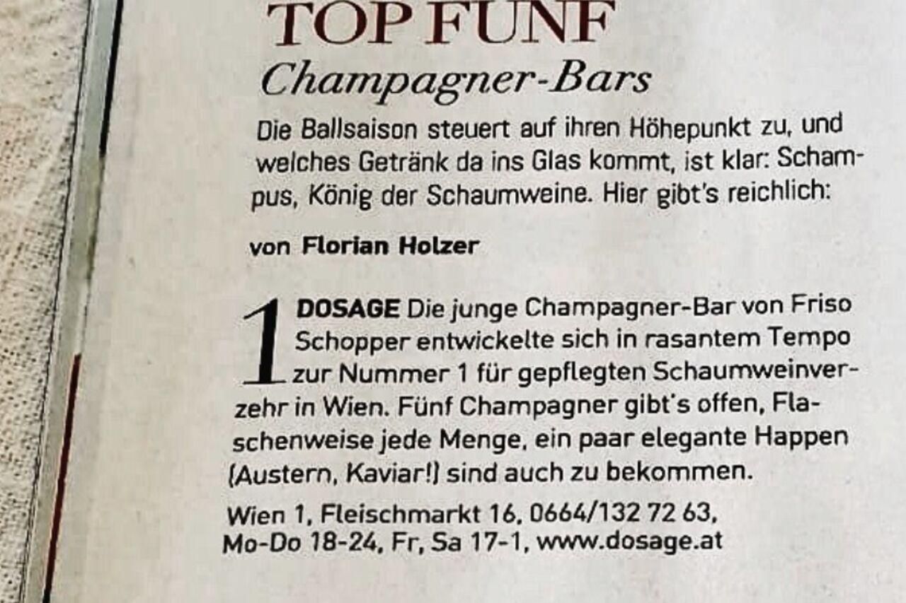 Champagner Bars in Österreich