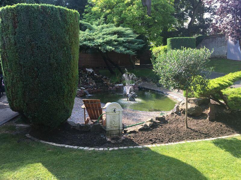 Notre jardin travaillé et relaxant.