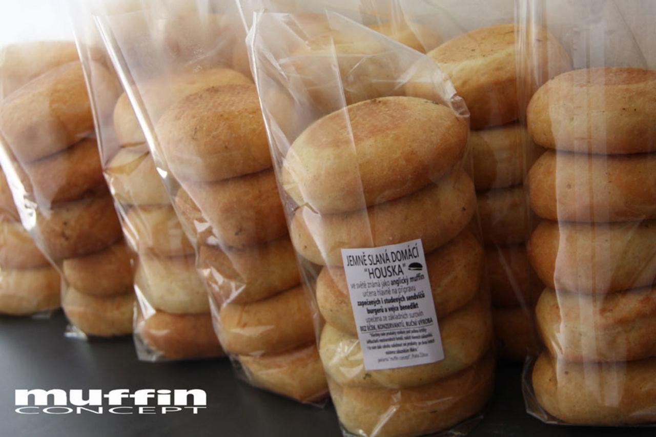 anglické muffiny - balení pro Makro