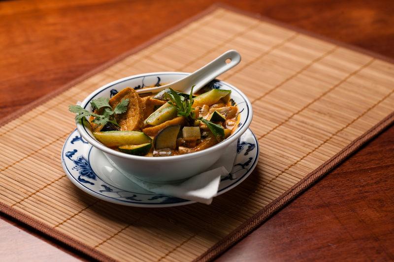 Kokosnuss-Milch Suppe oder Gericht