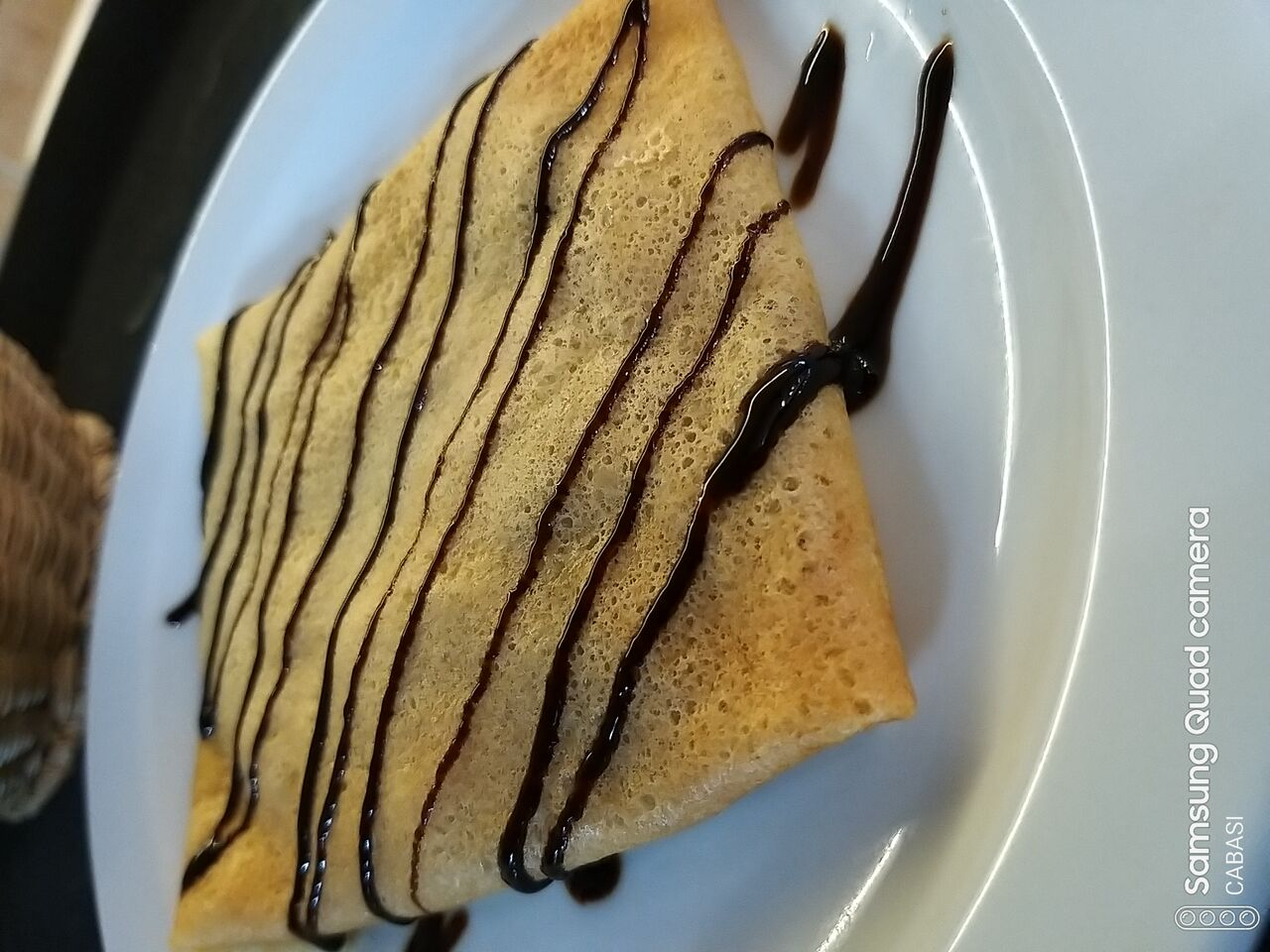 Filloas con crema de chocolate