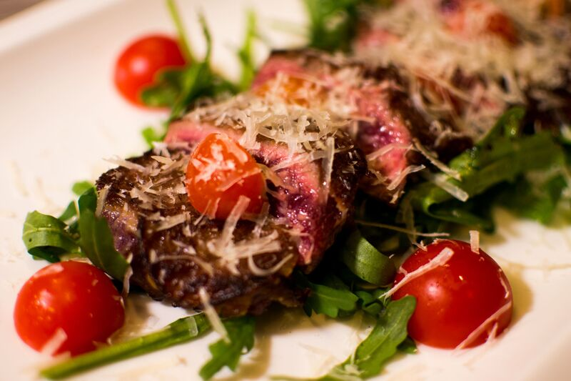 Tagliata - a sliced rump steak with arugula