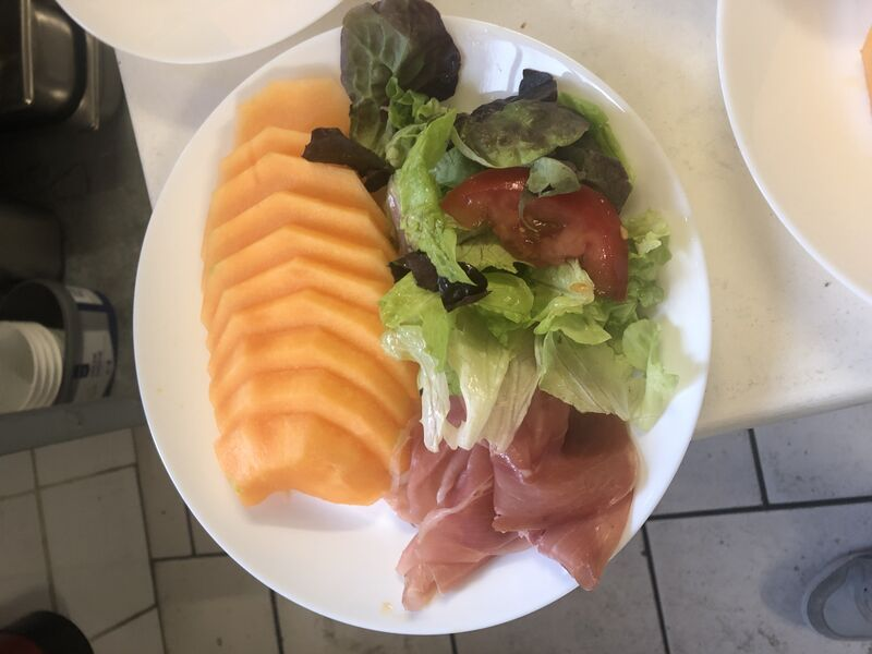 Assiette melon jambon