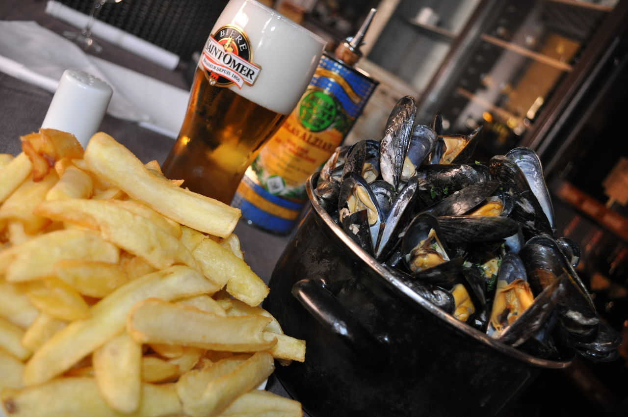 Mussels mariner with french fries