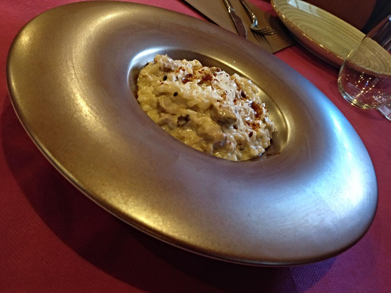 Arroz meloso trufado de carne a baja temperatura y Grana Padano